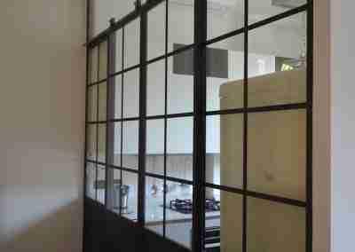 Porta in ferro scorrevole COD. PRV0002 - Atanor Falegnameria Bologna