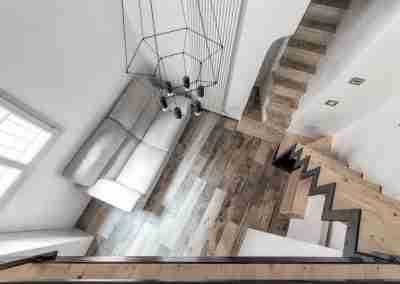 Scale in ferro e legno di abete COD. PRV0001 - Atanor Falegnameria Bologna