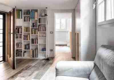 Libreria e armadi in legno bianco e abete COD. PRV0001 - Atanor Falegnameria Bologna
