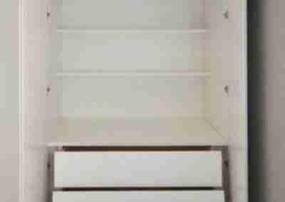 COD. PRV0019 Armadio bianco con cassettiera
