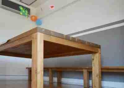 COD. PRV0020 Tavola con panca in legno di abete