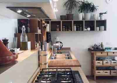 COD.PRV0023 Cucina minimale in legno di Rovere